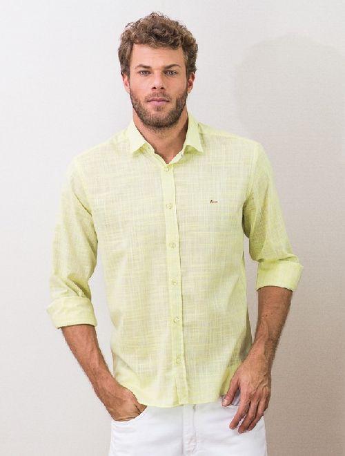 Camisa Jeanswear Slim Pontinhos Alfaiataria Verde
