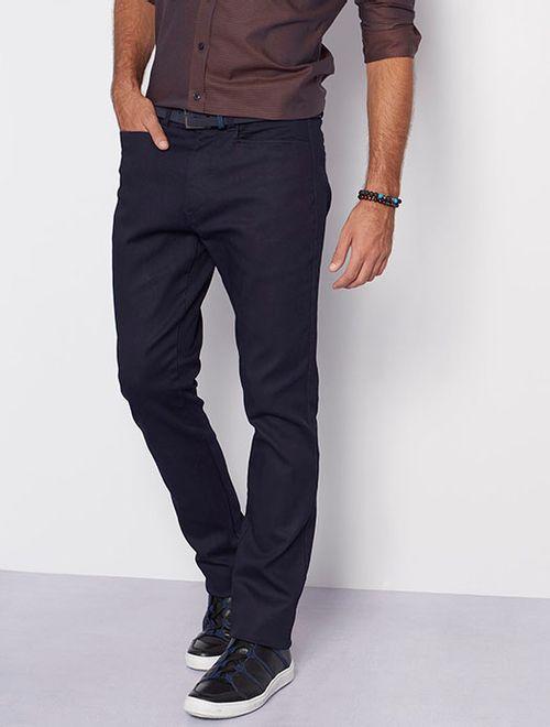 Calça Jeans Chino Bolso Carreteiro Azul