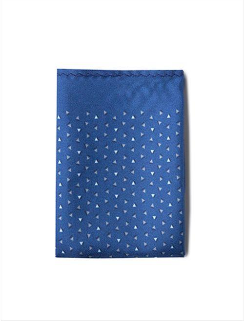 Lenço Mix Triângulos Gravataria Azul