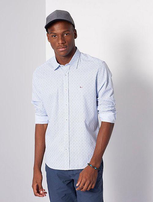 Camisa Slim Jeanswear Zita Chess Azul