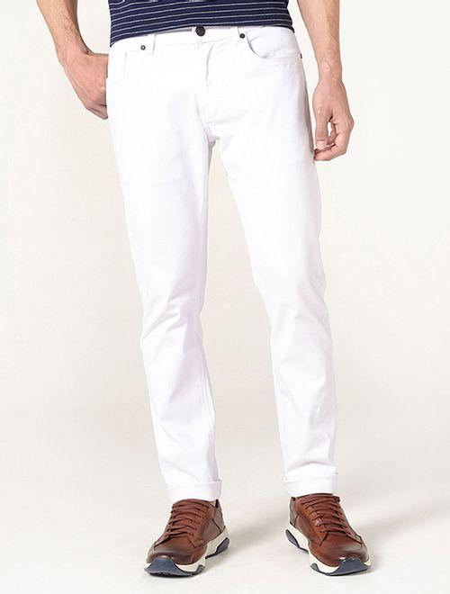 Calça Slim Power Elastano Branco