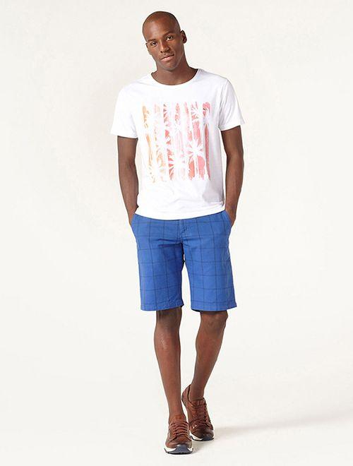 Camiseta Praia Listrada Laranja