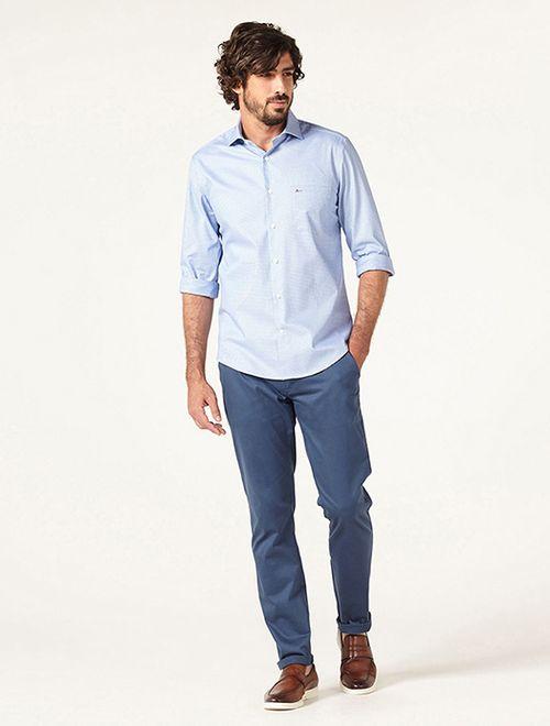 Camisa z Menswear Zig Zag Azul