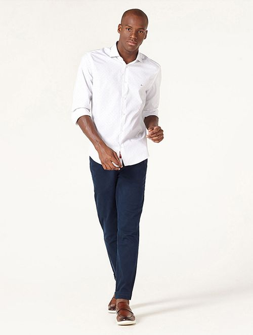 Camisa Menswear Slim Dois Poás Branco