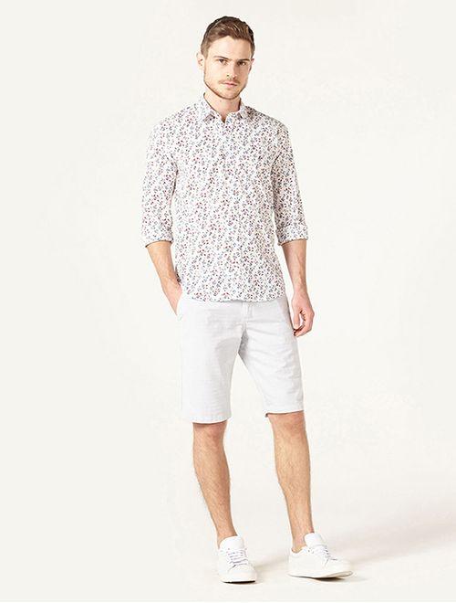 Camisa Jeanswear Slim Mini Floral Branco