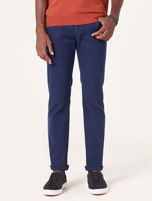 Calça Jeans Slim Texturizada Azul