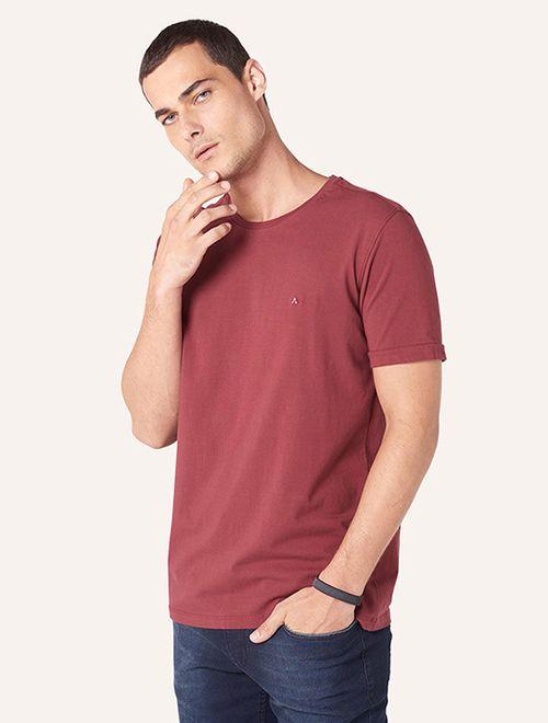 Camiseta Básica Stretch Vinho
