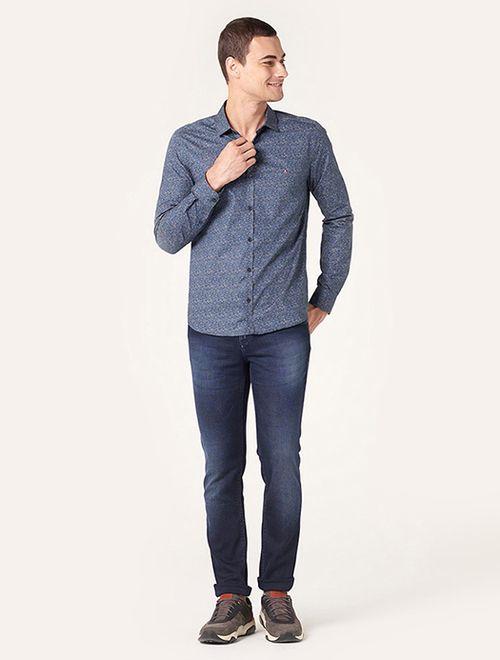 Camisa Super Slim Menswear Garden Petróleo