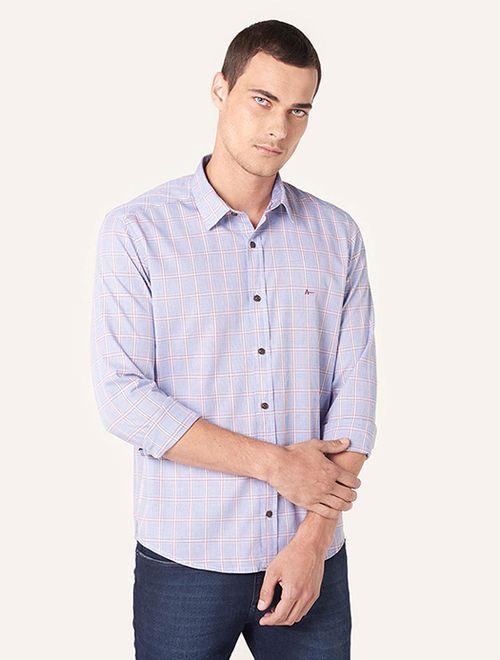 Camisa Jeanswear Slim Ponto Corrente Composês Azul