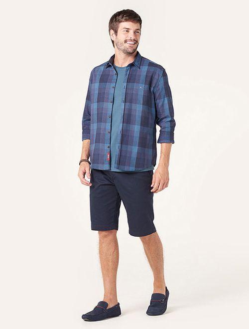 Camisa Jeanswear Slim Xadrez Azul