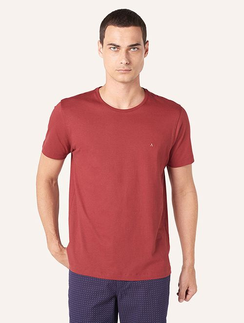 Camiseta Lisa Manga Curta Malha Vinho