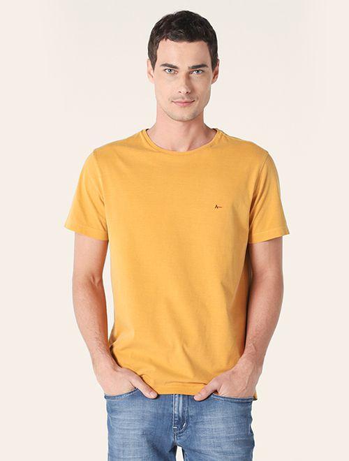 Camiseta Básica Stone Amarelo