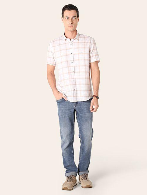 Camisa Jeanswear Slim Xadrez Areia