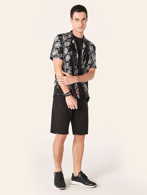 Camisa Menswear Slim Resort Adão Preto