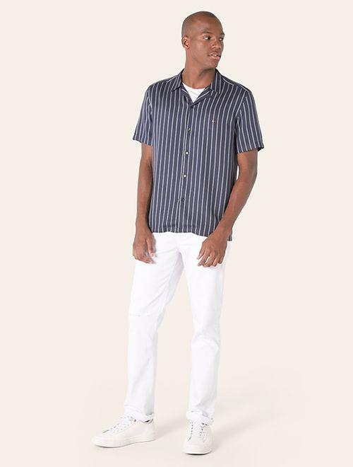 Camisa Menswear Resort Listrado Marinho