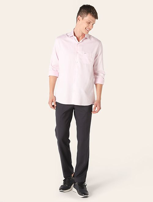 Camisa Social Maquineta Rosa