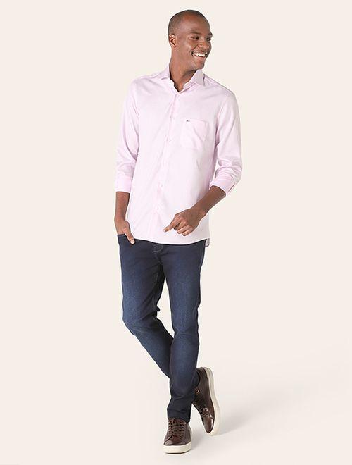 Camisa Social Xadrez Rosa