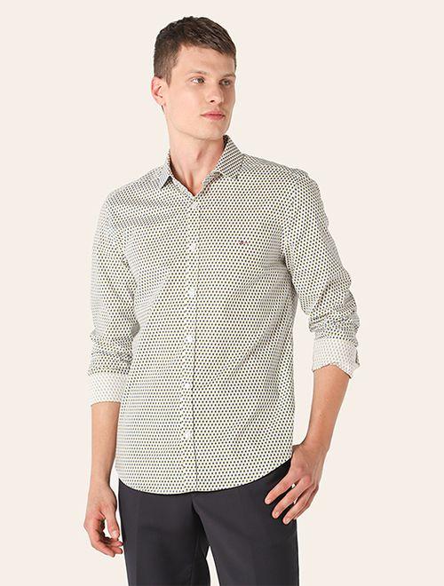 Camisa Menswear Super Slim Ladrilho Verde