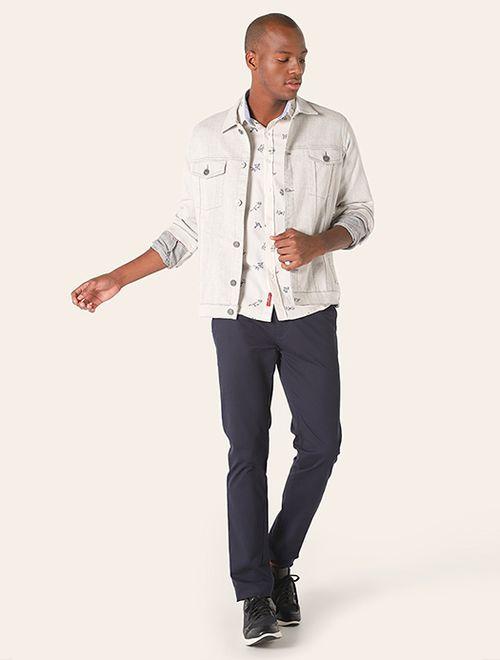 Camisa Jeanswear Slim Ramos Maquineta Areia