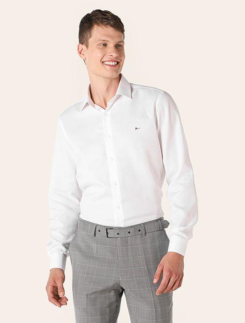 Camisa Social Super Slim Colarinho Trento Branco