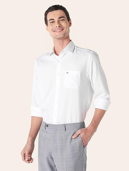 Camisa Social Colarinho Trento Chevron Branco