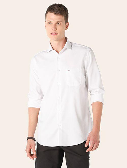 Camisa Social Listrada Cinza