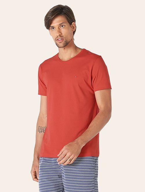 Camiseta Manga Curta Malha Lisa Vermelho