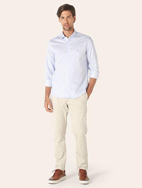 Camisa Menswear Listrado Azul