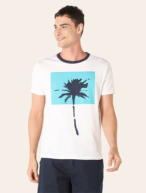 Camiseta Block Palm Branco