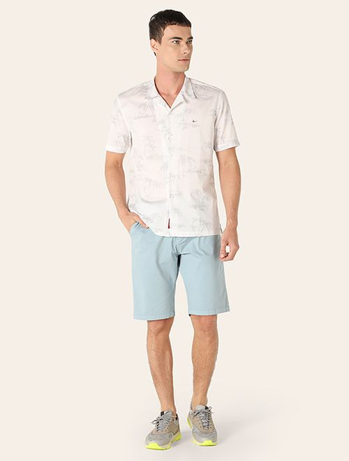Camisa Jeanswear Slim Coconut Trees Cinza