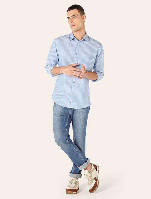 Camisa Jeanswear Bolso e Button Down Plena Azul