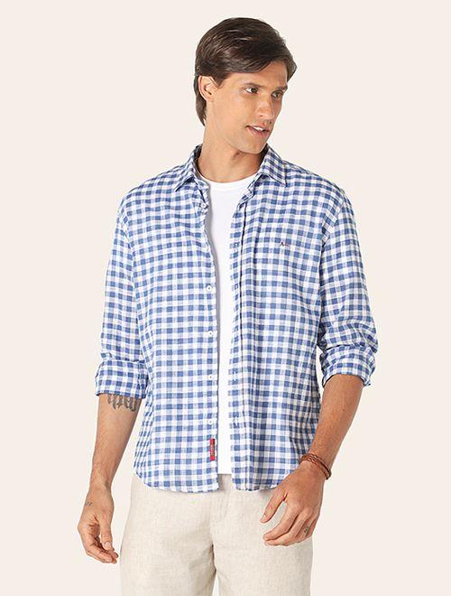 Camisa Jeanswear Xadrez Deep Blue Azul