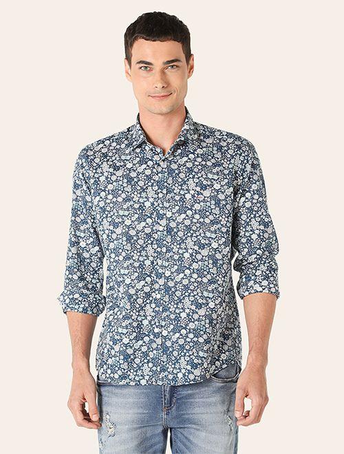 Camisa Jeanswear Slim Garden Marinho