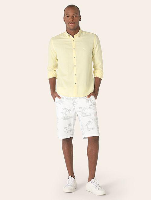 Camisa Jeanswear Slim Button Down Amarelo