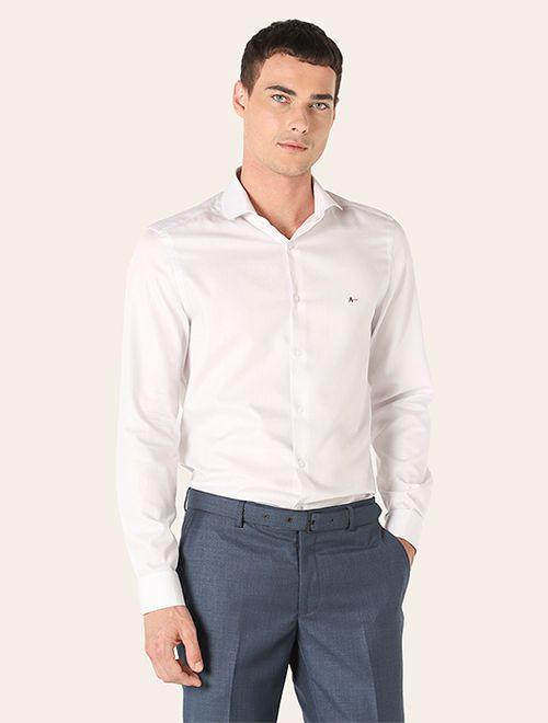Camisa Social Super Slim Xadrez Cinza