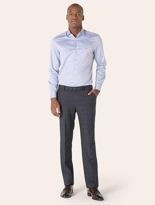 Camisa Social Super Slim Maquinetada