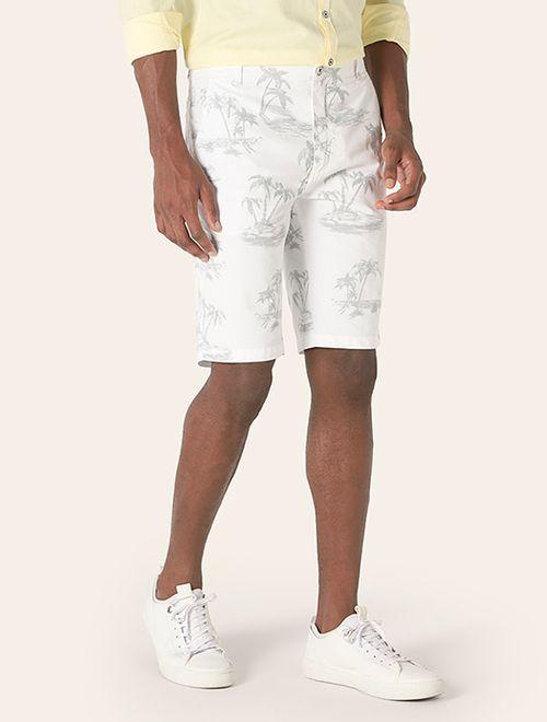 Bermuda Chino Coqueiros Ripstop Branco