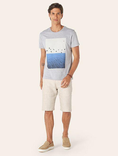 Camiseta Topografia Praia Cinza