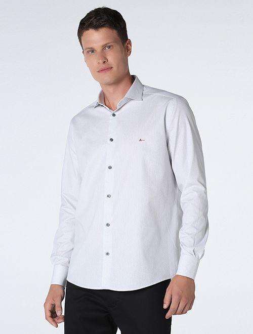 Camisa Geométrica Miniprint Branco