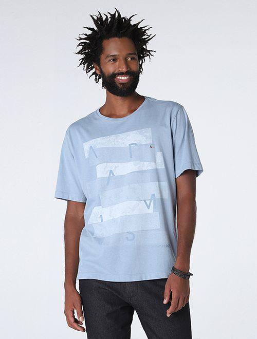 Camiseta Faixas Gel Azul Medio