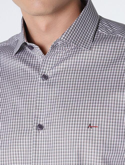 Camisa Slim Xadrez Cinza