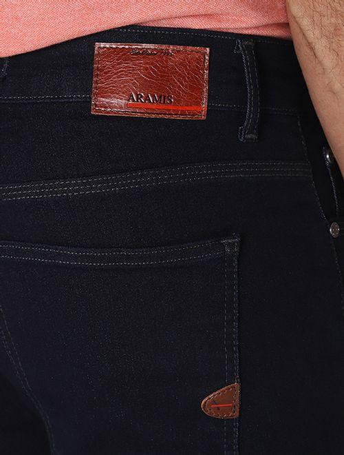 Calça Jeans Slim Bigode Amassado Azul