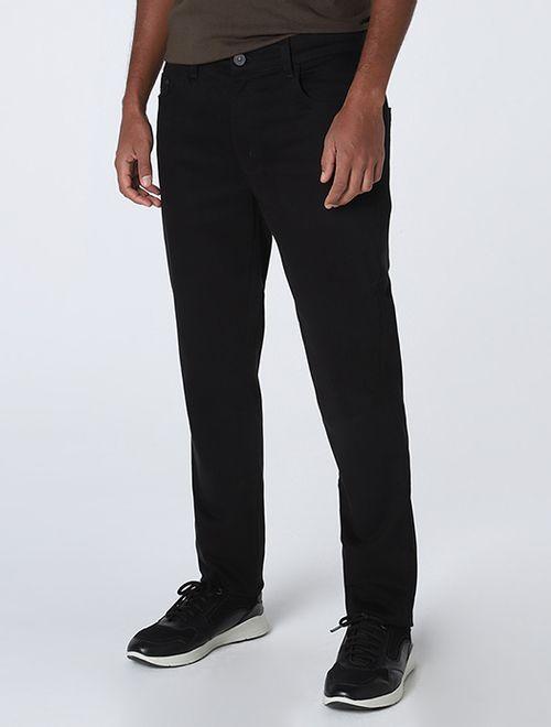 Calça Comfort Skinny Peletizada Preto