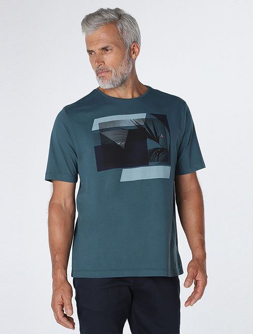 Camiseta Colagem De Folhagem
