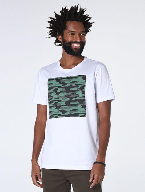 Camiseta Camo 105 Embossing Branco