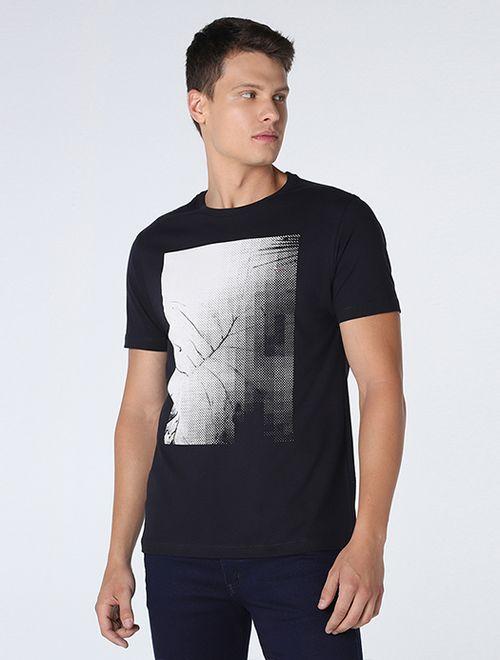 Camiseta Folha Pixelada Marinho