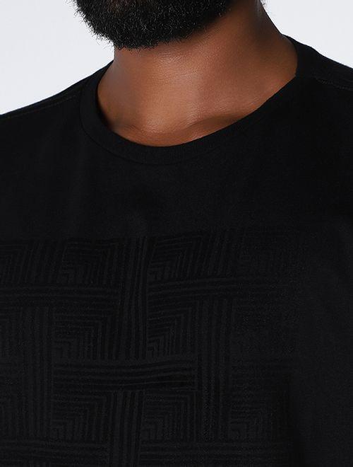 Camiseta New Fit Cubos Floco Night Preto