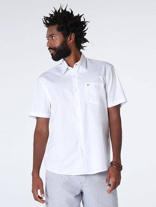 Camisa Menswear Barra Redonda Composê