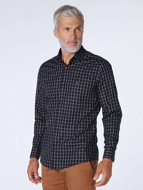 Camisa Xadrez Black Preto