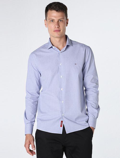 Camisa Xadrez Fio 80 Azul
